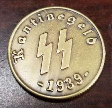 WW2 WWII German bronze coin SS Kantinegeld 1939  bar money Elite 50 Pfenning