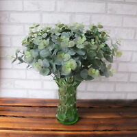 EG_ ARTIFICIAL FAKE LEAF EUCALYPTUS PLANTS GREEN LEAVES WEDDING PARTY HOME DECOR