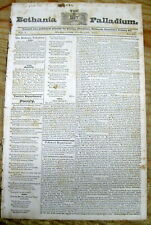 1832 newspaper Escaped African-American slaves settle in COLBORNESBURG Canada