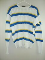 Vintage Mens Ralph Lauren Polo L Large Preppy Cable Knit Sweater Jumper Pullover