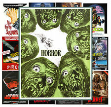 "Mini Posters [13 shts 8""x11""/A4] Monster Zombie Horror Vintage Trash Movie MP462"