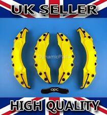 UNIVERSAL BRAKE CALIPER COVERS SET KIT FRONT & REAR YELLOW ABS 4PCS - OPC