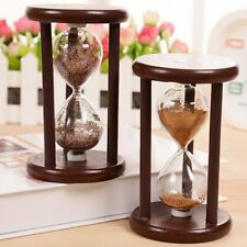 Wood Vintage Antique Sand Glass Hourglass Timer Table Top Sand Clock Timer