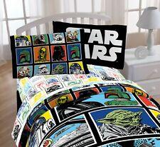 NEW DISNEY STAR WARS MICROFIBER TWIN COMFORTER Yoda Darth R2D2 Stormtrooper