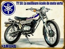 Plaque métal vintage Yamaha TY 50