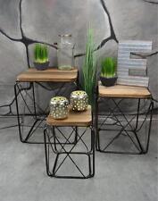 Beistelltisch Couchtisch 3er Metall Industrie Look Vintage Loft Living LV5020