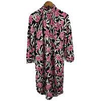 Trenery Womens Dress Size 8 Multicoloured Long Sleeve Zip Closure Mock Neck