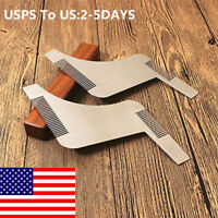 1pc Men Stainless Steel Beard Comb Shaper Styling Shaping Template Trimmer Tool
