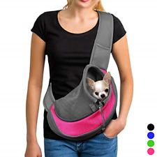 New listing Pet Dog Sling Carrier Breathable Mesh Travel Safe Bag Carrier for Dogs Cats