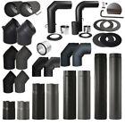 Ofenrohre Rauchrohr 150 mm Kaminrohr Rohrset Abgasrohr 2mm Schwarz Grau Rohr set <br/> ✅Sofort lieferbar ✅Profi-Qualität ✅DE-Fachhändler