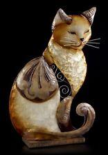Metal Figura - Relajado Gato - Figura de gatos Figura decorativa sentado