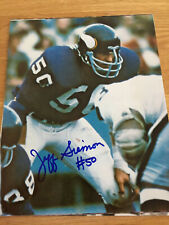 Vikings Jeff Siemon signed 8x10 w/COA pose 2
