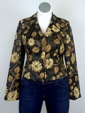 $298 Earl Rutenberg Gold Brocade Damask Carpet Tapestry Victorian Bustle Jacket