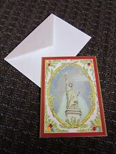 Statue of Liberty Christmas Card Holiday Brick Mill Studios Vintage Unused