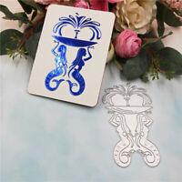 Stanzschablone Meerjungfrau Brunnen Weihnachten Geburtstag Hochzeit Karte Album