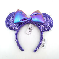 Bow Shanghai Disney Resort Minnie Ears Purple Sequins Potion Kids New Headband