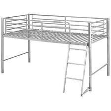 Silver Finish Childrens Cabin Bed Frame Mid Sleeper Sleep Station |  Single 3ft