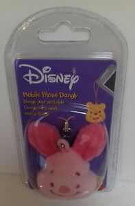 DISNEY - Winnie The Pooh Piglet Mobile Phone Dangly New Sealed Phone Accessory