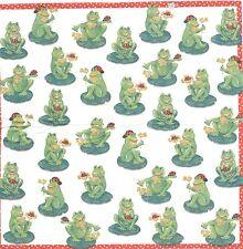 3 Mouchoirs papier Animal Grenouille Decoupage Paper Hankies Froggies serviette