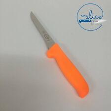 """F Dick 6"""" Tapered MasterGrip Boning Knife - Hi-Vis Orange Handle - Butcher"""