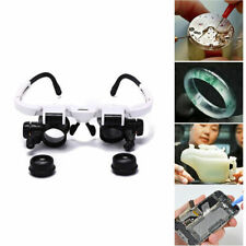 8x 15x 23x adjustable bracket loupe led light headband magnifier glass with RTUK