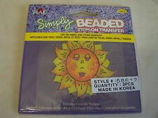 Simply BEADED  Sun  Iron-On  Transfers ( Pack of 3 )