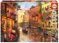 1500 atardecer en Venecia puzzle educa