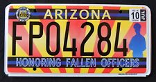 "ARIZONA "" FALLEN POLICE OFFICERS - COPS - FLAG "" AZ Specialty License Plate"