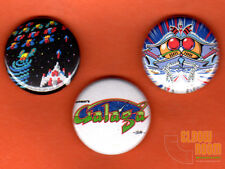 "Set of three 1"" Galaga pinback buttons pins arcade bally midway"