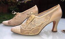 STUART Weitzman Russell & Bromley Crema/tacchi Perle-Stile Vittoriano UK 6.5 RARA