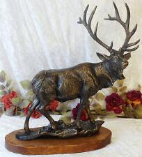Eisenfigur Hirsch mit Geweih XXL Skulptur Figur Tierfigur Statue Rentier Elch
