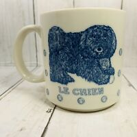 1984 Taylor NG Le Chein Blue Yarn Mug Cup Made in Japan Dog Lover 10 oz Ounces