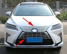 Front Grilles Cover Molding Trim for 2016-19 Lexus RX350 RX450h Chrome No Camera