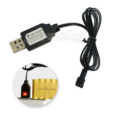 6V SM Plug USB Charger Cable Light For Ni-CD Ni-MH Rechargeable Battery Pack