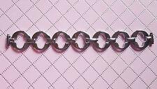 BRACELET MONTRE ACIER /argenté FEMME / 8 à 12 mm LARGE  13. CM long  /  REF PH30