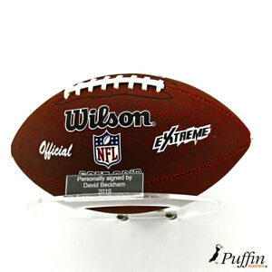 Plastic American Football Landscape Wall Stand (With Free Inscription Plaque)