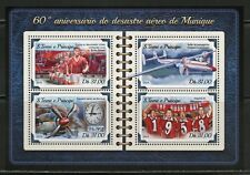 Sao Tome 2018 60th Anniversary Of The Munich Air Disaster Sheet Mint