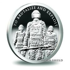 2 oz 2018 Slave Police BU with COA Silver Shield ONLY 822 Minted 999 2 ounces
