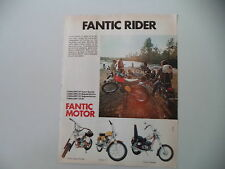 advertising Pubblicità 1974 MOTO FANTIC CABALLERO 50/SUPER ROCKET/TI/CHOPPER