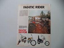 advertising Pubblicità 1974 MOTO FANTIC CABALLERO 50/SUPER ROCKET/TI/CHOPPER