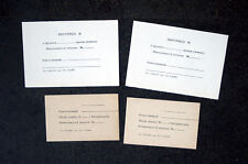 4 Soviet Military Armory Officer Weapon Ammo Card Russian Army USSR Gun Room