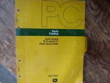 John Deere B-C & D-C Plain Grain Drill Parts Catalog Manual Original Pc-1133