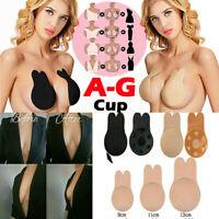 Invisible Breast Lift Nipple Silicone Cover Push Up Bra Tape Sticker Rabbit Pad*