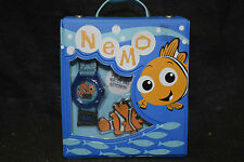 Vintage Nemo Watch and Key Chain in Lunch Box Style - Blue with Fish and Design