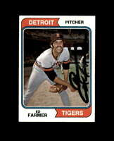 Ed Farmer Hand Signed 1974 Topps Detroit Tigers Autograph
