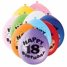 """10 Pack Air Filled Latex Balloons All Ages 1-100 Birthday Party Decorations (9"""")"""