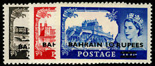 More details for bahrain sg94a-96a, complete set, vlh mint. cat £65. type ii