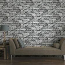 Arthouse VIP Moroccan White Stone Wall Brick Rustic Wallpaper 623009 3D Effect