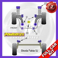 Skoda Fabia 5J (2008-) Powerflex Complete Bush Kit  -10mm Top Mounts