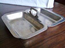 Cellini Craft Argental Hand Made Aluminum Divided Tray